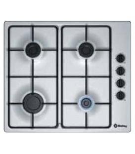 Encimera Balay 3ETX464MB, 4 fuegos, gas, inox, 60c