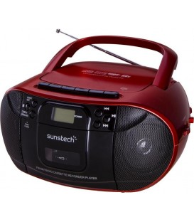 Radio Cassette CD Sunstech USB CXUM52RD