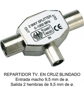 REPARTIDOR EN CRUZ Fbright MACHO METALICO BLI