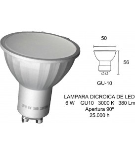 Bombilla LED Fbright 2601670, 6W, GU10, 3000K