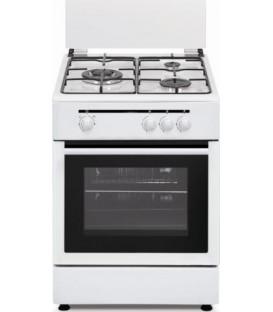 Cocina Vitrokichen CB5530BB, blanco, 3 fuegos, Ga