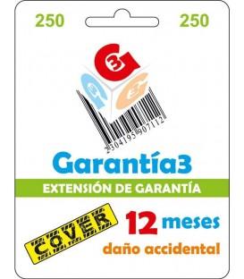 Garantia3 Cover Fisico 12meses tope maximo 250€