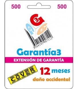 Garantia3 Cover Fisico 12meses tope maximo 500€