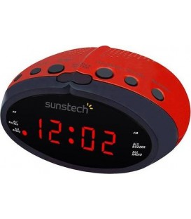 Radio Reloj Sunstech FRD16RD Despertador LED