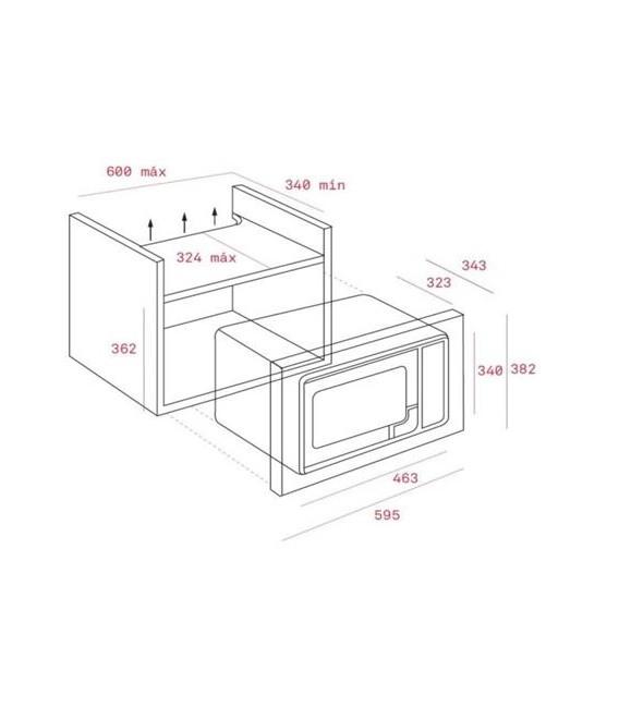 Microondas Teka MWE207FI, integrable, 20L, digital
