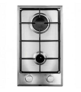 Encimera Beko HDCG32220FX, 2 fuegos, 30cm