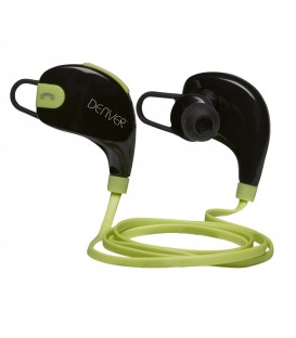 Auriculares Denver BTE100, Bluetooth, 4.1, Green