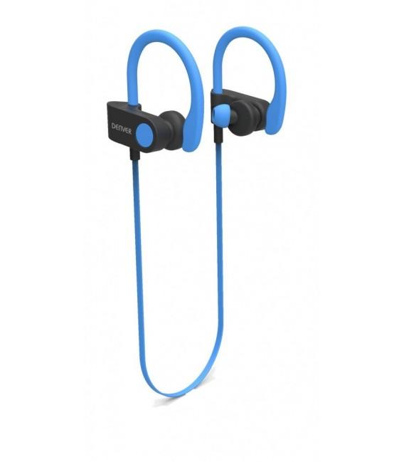 Auriculares Denver BTE110BL, Bluetooth 4.2, Azul