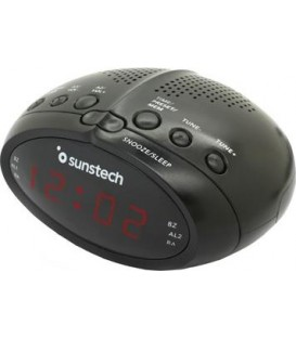 RADIO RELOJ DESPERTADOR SUNSTECH FRD17BK DESPERTAD