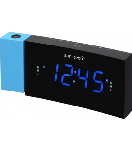 RADIO RELOJ DESPERTADOR SUNSTECH FRDP3BL DESPERTAD