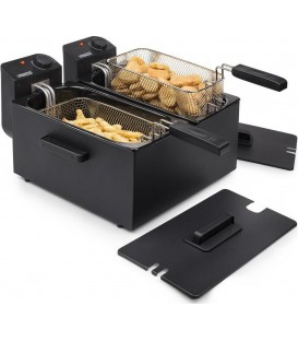 FREIDORA PRINCESS 183028 DOUBLE BLACK FRYER