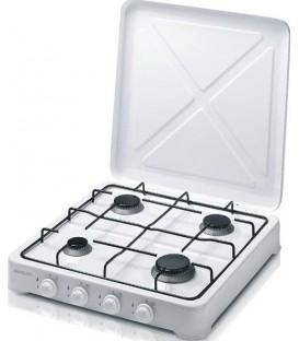 Cocina Gas Bastilipo CG400, 4 fuegos, Blanca