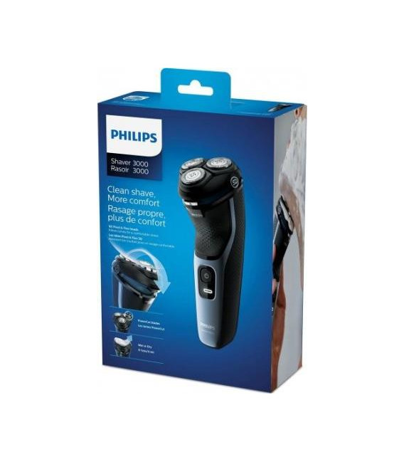 Afeitadora Philips S313351, cuchillas PowerCut,