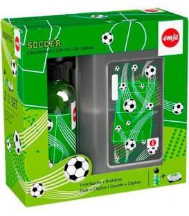 Botella Infantil Emsa 518140, Set Infantil Fútbol