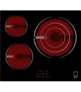 Vitroceramica LETT VI330, 3 zonas, Touch control,