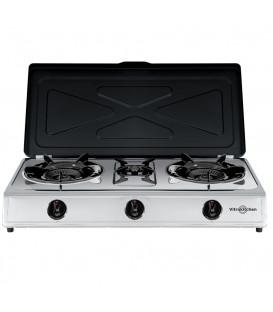Cocina Vitrokitchen 360IB, 3 fuego, Triple inox, B