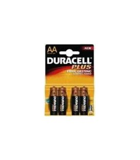 Pila Duracell Alcalina Plus Power AA LR06 K4