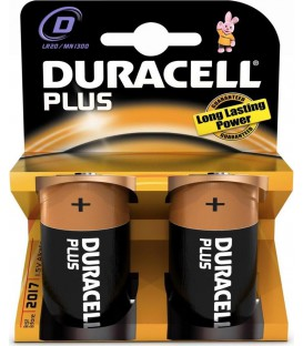 Pila Duracell Alcalina Plus Power D LR20 K2
