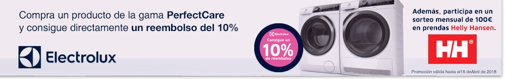 Promoción 10 % reembolso electrolux